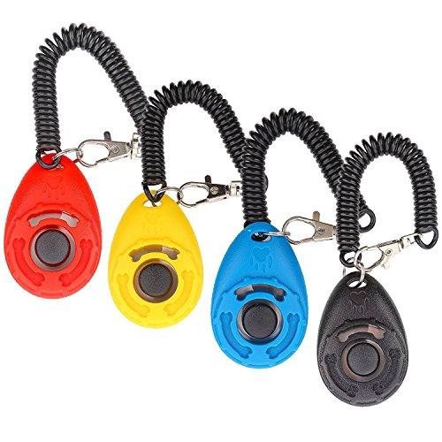 Hunde Klicker, [4 PCS, Multi-Color] Diyife Training Klicker mit Trageschlaufe für Hund, Katze, Pferd