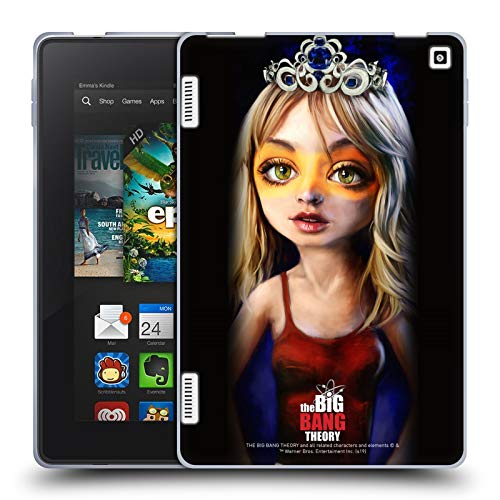Official The Big Bang Theory Penny Caricature Soft Gel Case Compatible for Amazon Fire HD 7
