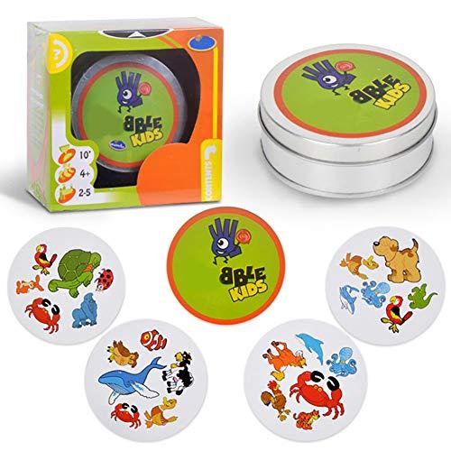 Apofly 1 Juegos De Cartas PCS Juguete Padre-Hijo Juguete Educativo para NiñOs (Animal Verde)