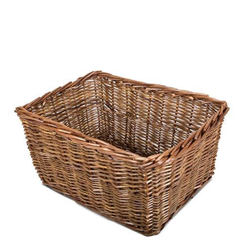 Rectangle Rustic Countryside Style Chunky Wicker Fireside Heavy Duty Log Baskets