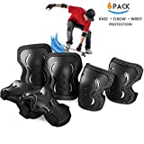 skybulls Adult Youth Child Knee Pads Elbow Pads Wrist Guards, [6Pack] Knee Elbow...