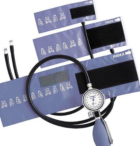 Riester 1440 Blutdruckmessgerät, Set I, babyphon, Metall, 3 Klettenmanschetten, 1-Schlauch