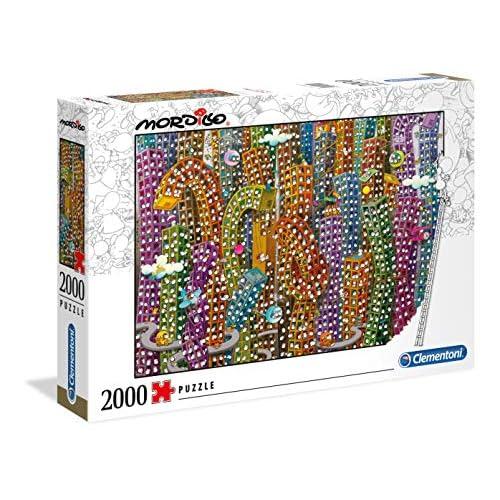 Clementoni- Mordillo Puzzle, 2000 Pezzi, Multicolore, 32565