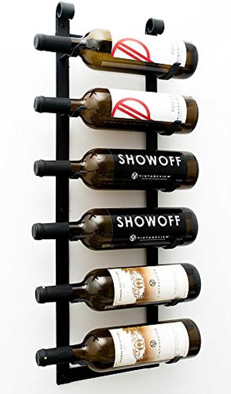 VintageView Le Rustique Wine Rack in Satin Black, Set of 2
