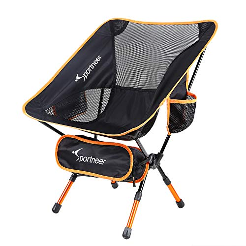 Camping Chair, Ultralight Portable Folding Sportneer Backpacking Chair, Compact and Heavy Duty...