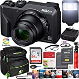 Nikon 26527 Coolpix A1000 16MP 35x Optical Zoom 4K Compact Digital Camera Bundle with 64GB Memory Card, Replacement Battery, Camera Bag, Professional Editing Suite and Flash