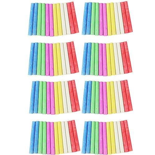 com-four® 96x Tafelkreide-Sticks - Wandtafel-Kreide zum Beschriften und Malen in bunten Farben - Straßenmalkreide (0096 Stück - bunt Mix 2)