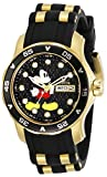Invicta Disney Limited Edition Lady 38mm Stainless Steel Gold Black dial Quartz, 30712