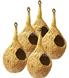 100% natural materials and handmade Coconut fiber (coir) inside and outside. Size 11 cm condo and 5 cm entrance 5 in 1 money saver pack
