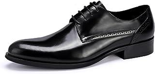 [アシアー] Asier ビジネスシューズ 紳士靴 ラウンド 外羽根 本革 革靴 通気性がよい ASI-125 ブラック/ワインレッド 23.5cm-28.0cm