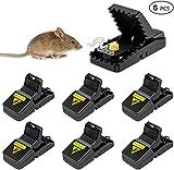 Festyle Trampa para ratones, ratones y ardillas que funcionan, trampas de ratones y trampa interior con vaso de cebo desmontable, eficaz y seguro sanitario