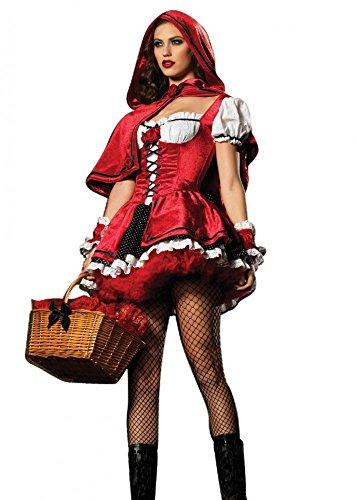 sexy weinig rood paardrijden kap fancy jurk kostuum nieuw medium 8-12 Meerkleurig