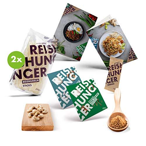 Reishunger Pad Thai & Holy Basil Box (6-telig, für bis zu 4 Personen) - Originalzutaten für zwei Thailändische Stir-Fry Klassiker - Glutenfrei - Zum Selbermachen oder als Geschenk