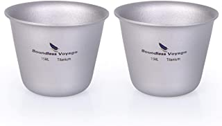 iBasingo チタン製ミニケーキカップ アウトドア キャンプ ピクニック パーティー ウイスキー ワイン ティー フラスコ フラゴン ドリンクマグ