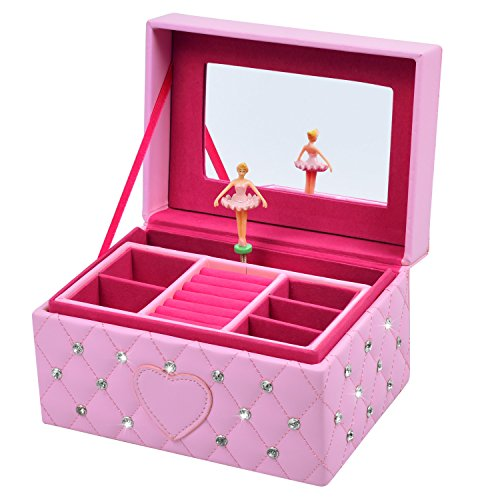 Smonet Musical Jewelry Box, Ballerina Girl's Jewel Storage Case, Twinkle Twinkle Little Star...