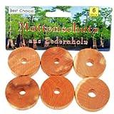 Schrankduftscheiben, Mottenschutz, Mottenstop aus Zedernholz