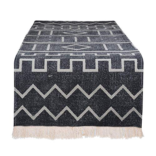 Table Runner for Dining Table | Washable Boho Table Runner 100% Cotton Indoor Outdoor | Modern Everyday Use Home Decorations Placemat Non-Slip Heat Stain Resistant Kitchen Table Runner Easy to Clean