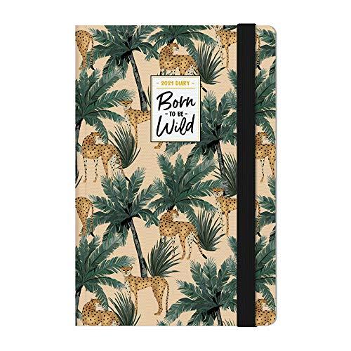 Legami - Agenda Settimanale, 12 Mesi, 2021, Medium, con Notebook, Cheetah - 12 x 18 cm