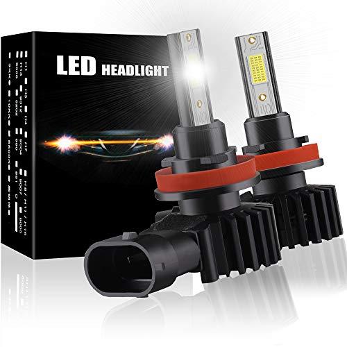 H8 H11 Lampadine LED per fari All-in-One Mini design LED sostituzione lampada alogena e lampada allo xeno 12V 60W 12000LM 6500K Bianco