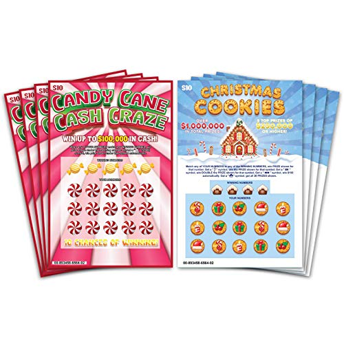 Laugh In The Box Christmas Edition Prank Gag Fake Lottery Tickets 8 Tickets Total 4 of Each Winning...