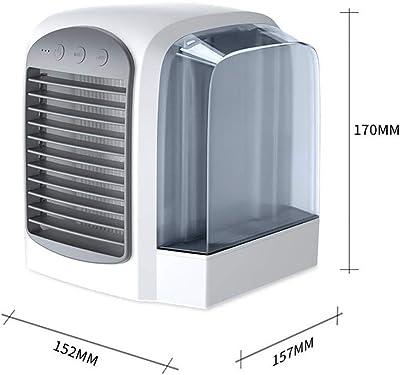 Ventilador eléctrico portátil Hogar Humidificación Aire Acondicionado Ventilador Silencio Ahorro de energía Pequeño Enfriador de Aire Aire Acondicionado refrigerado ...