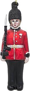 BestPysanky British Royal Guard British Glass Christmas Ornament 6.25 Inches
