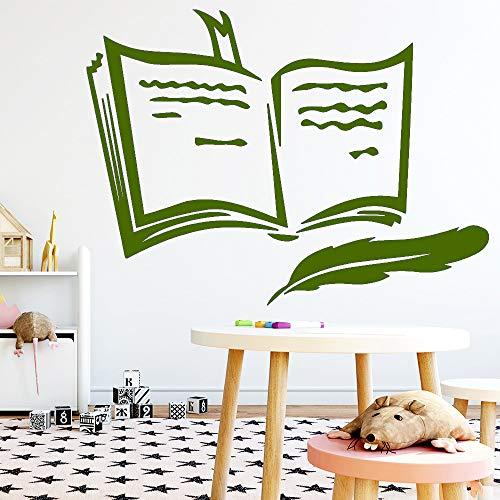 zqyjhkou Neues Buch Wandaufkleber Wandtattoo Wohnkultur Für Schlafzimmer Dekoration Home Party Decor Tapete 5 XL 57 cm X 77 cm