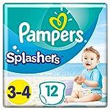Pampers Größe 3-4 Splashers Baby Windeln, 96 Stück, Schwimmwindeln Mit...