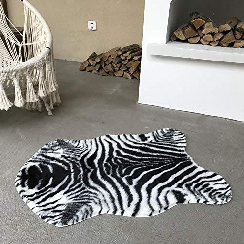 zhishen Rug Cow Leopard Tiger Printed Cowhide Faux Skin Leather Nonslip Antiskid Mat Animal Print Carpet-70x105_80x105