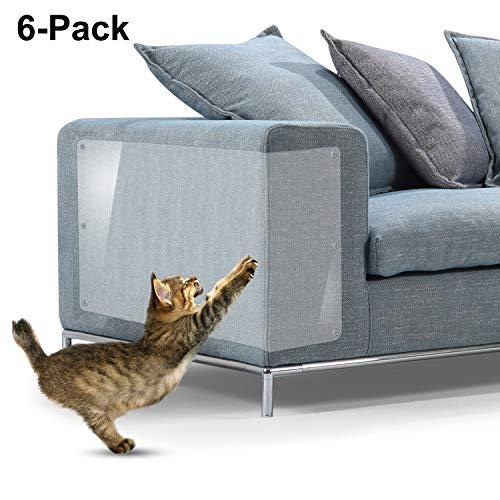 Protectores de arañazos para muebles de gato, de vinilo flexible de alta calidad con clavijas para proteger tus muebles tapizados, 18' x 12'