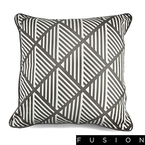 Fusion Coussin Garni de, 100% Coton, Gris, 43 x 43 cm (17 x 17)