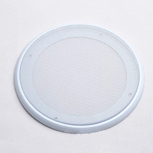 Matedepreso 4 inch 5 inch 6,5 inch 8 inch auto luidspreker rooster netwerk hoes bescherming etui subwoofer luidspreker metaal koud gerold staal (6.5 inch White)