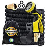 J&B XpandaHose 100ft Expandable Garden Hose with Holder - Heavy Duty...