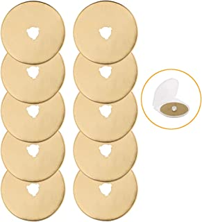 AUTOTOOLHOME Titanium Rotary Cutter Blades 60mm 10 Pack Replacement Quilting Scrapbooking Sewing Arts Crafts Farbric Paper...