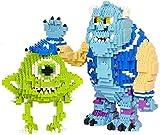 ZT Bloques de construcción de niños, Monstruo Blue Cat y Monster Monster Misster Micro Micro Micro Nano Ladrillo DIY Montaje Juego Aprendiendo Juguetes de Construcción Educativa, Regalo de Cumpleaños