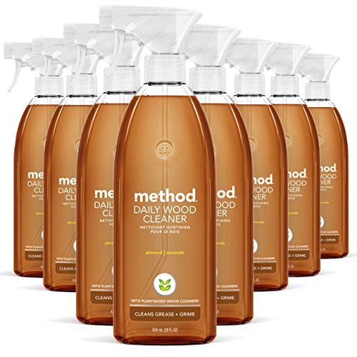 Method Daily Wood Cleaner, Almond, 28 Ounce, 8 pack, Packaging May Vary