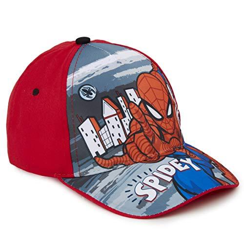 Marvel Avengers Baseball Cap Kinder, Basecap Kinder Jungen mit Spider Man, Thor, Captain America, Hulk und Iron Man, Verstellbare Sonnenhut, Geschenke für Kinder (Rot Spidey)