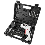 45 in 1 Portable Cordless Drill Driver, Rechargeable Electric Screw Drill Repair Power