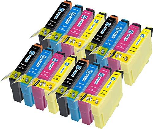 Ink Maxx Paquete de 16 18 18XL XL Cartucho de Tinta Compatible para Usar en Lugar de Epson Expression Home XP 102 202 205 212 215 222 225 30 302 305 312 315 322 325 402 405 405 WH 412 415 422 425