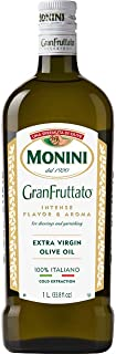 Monini Premium Extra Virgin Olive Oil   GranFruttato for Dressing and Garnishing   Cold Extracted Process, Intense Flavor & Aroma   33.8oz (1L)