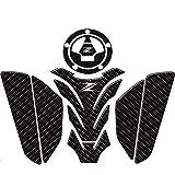 Qwjdsb para Kawasaki z750 Z800 z900 Z1000, Nuevo Logo Z Motocicleta 3D Tanque Pad Etiqueta Protectora Etiqueta