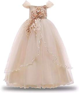 فستان بناتي عالي الجودة، فساتين حفلات الكريسماس وفساتين زفاف طويلة للبنات، فساتين أميرة الأطفال