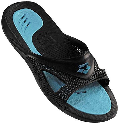 ARENA Hydrofit Man Hook, Scarpe da Spiaggia e Piscina Uomo, Nero (Black/Turquoise 083), 43 EU