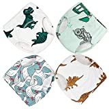 Cotton Training Pants 4 Pack Padded Toddler Potty Training Underwear for Boys 2T