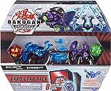 Bakugan 6059463 Baku-Gear Pack de 4 Armored Alliance Bakugan (Ultra Aquos Nillious, Ultra Darkus Hydorous, Basic Pyrus Pegatrix, Basic Ventus Pharol) y 1 Set de Baku-Gear