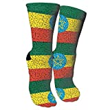 Jesse Tobias Etiopía Flag Puzzle Crazy Socks 3D Crew Socks