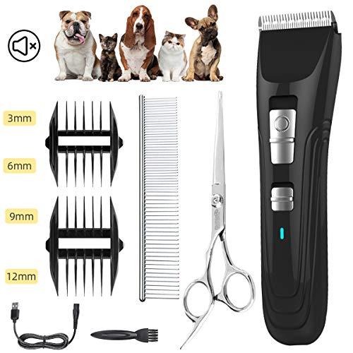 ENJOY PET Tierhaarschneider Haustier Haarschneidemaschine, Professionell Hundeschermaschine Grooming Clipper Kabellos Aufladbar Tierhaarschneidemaschine, Elektrische Haarschneider für Hund und Katze