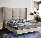 LA WEB DEL COLCHON - Cabecero Tapizado Dalice para Cama de 135 (155 x 120 cms) Beige Claro Textil Suave
