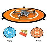 Hensych Mini héliport de Piste Pliable pour DJI Mavic Mini / Pro Drone / DJI Spark /DJI Phantom 2/3/4 Inspire - Élargissez diamètre 75cm, 29cm plié diamètre