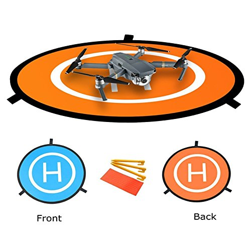 Hensych Mini Faltbar Landing Polster Helipad für Mavic Mini / Pro Drone / Spark Drohne / Phantom 2/3/4 Inspire - Expand Durchmesser 75cm, gefaltet Durchmesser 29cm